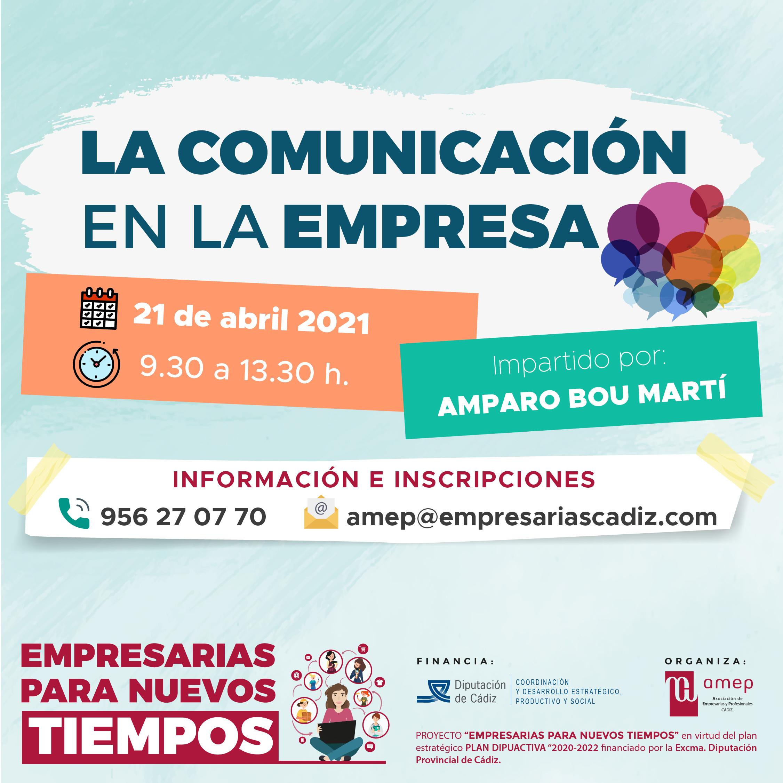 webinar comunicación en la empresa por amparo bou